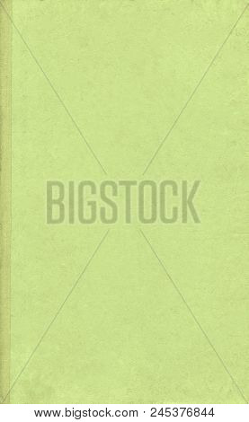 Top View Of Green Notebook. Old Green Book