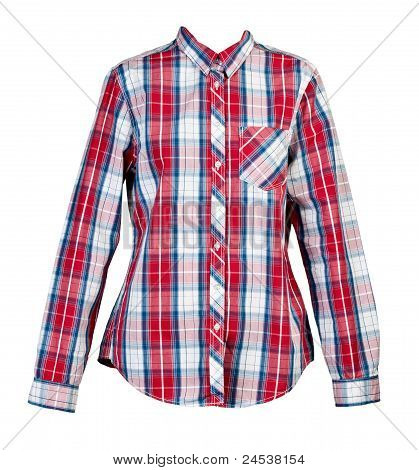 Red Plaid Shirt Women