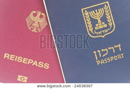 Israeli and German passport