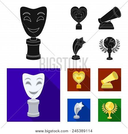 White Mask Mime For The Best Drama, A Prize In The Form Of The Heart And Other Prizes.movie Awards S
