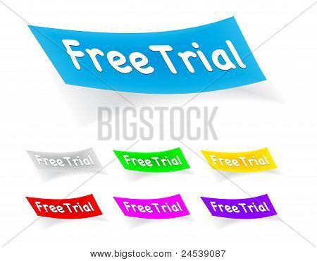 free trial, stickers