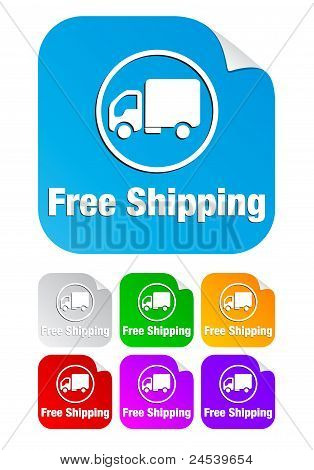 free shipping,square stickers