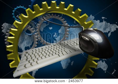 Turning Gears Computer