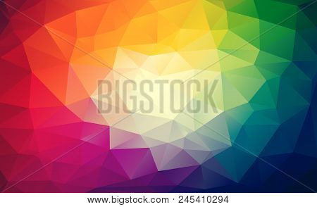 Rainbow Vector Geometric Wallpaper Consists Of Colorful Triangles
