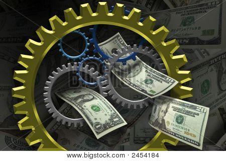 Zahnräder und Geld