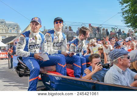 Le Mans, France - June 16, 2017: Team Of Alpine A470 - Gibson Of Signatech Alpine Matmut, Driven By