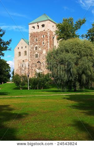 the medieval castle in Turku Finland Turun linna poster