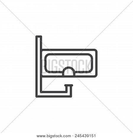 Diving Mask Outline Icon. Linear Style Sign For Mobile Concept And Web Design. Snorkel Simple Line V