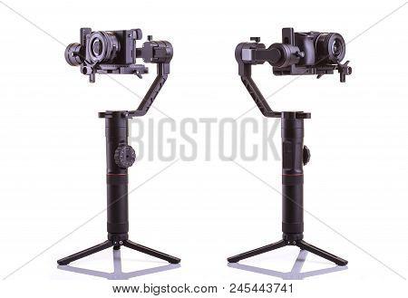 Sukhothai, Thailand - May 30 : Zhiyun Crane 2 - Set Of Different Angle Of Black Camera And Stabilize