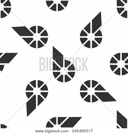 Cryptocurrency Coin Bitshares Bts Icon Seamless Pattern On White Background. Physical Bit Coin. Digi