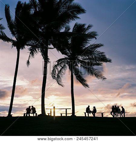 Enjoying Sunset At Coco Cabana, Miri, Malaysia.