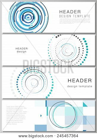 The Minimalistic Vector Illustration Of The Editable Layout Of Headers, Banner Design Templates With