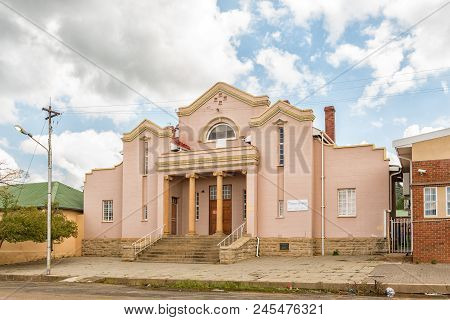 Zastron, South Africa - April 1, 2018: Hall Of The Dutch Reformed Church In Zastron In The Free Stat