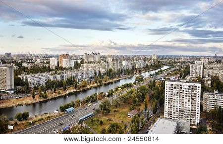 Kiev - the capital of Ukraine. View of Dnieper embankment poster