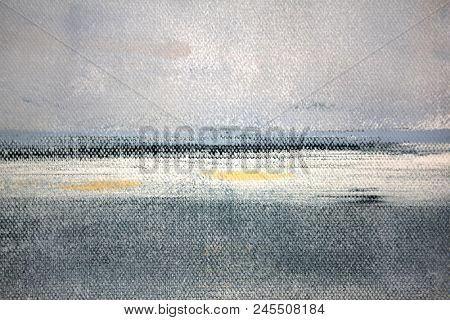 Abstract paint and canvas Seascape, canvas textures