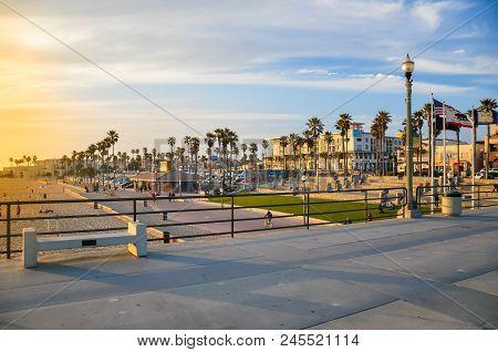 Huntington Beach, Ca - April 12, 2011 - View From The Pier In Huntington Beach, California