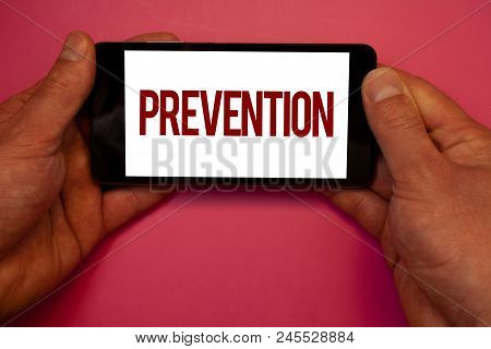 Conceptual Hand Writing Showing Prevention. Business Photo Showcasing Stopping Something From Happen
