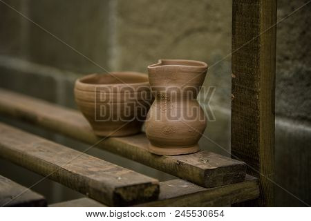 Artisan Clay Pots, Traditional Art Detail, Object