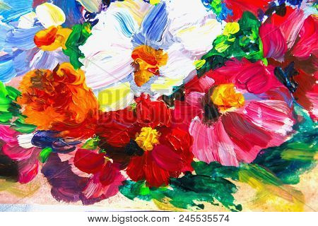 Oil Painting, Impressionism Style, Flower Painting, Still Painting Canvas, Artist, Painting,