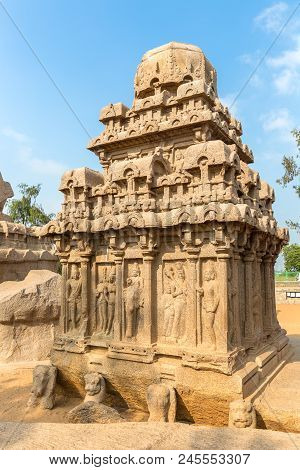 The Five Rathas, Arjuna Ratha, Mahabalipuram, Tamil Nadu, India