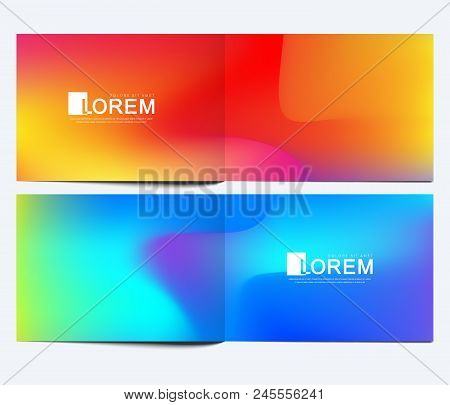Modern Vector Template For Horizontal Brochure, Leaflet, Cover, Catalog, Magazine Or Annual Report.
