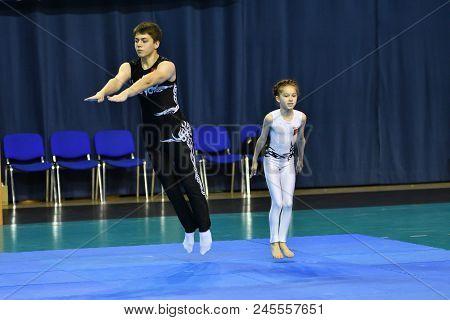 Orenburg, Russia, 26-27 May 2017 Year: Juniors Compete In Sports Acrobatics