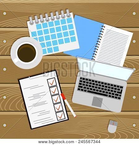 Work Place, Planning And Organization, Work Table. Organization And Development, Workspace Managemen