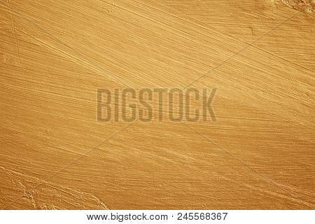 Golden Wall, Uneven Surface, Used For Background