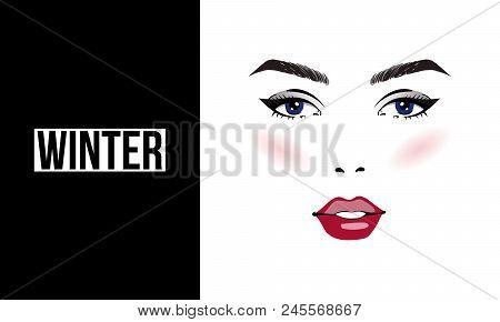Make Up Stoel : Face makeup winter vector photo free trial bigstock