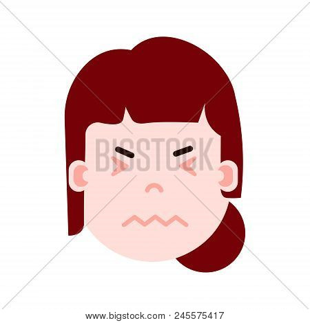 Girl Head Emoji Vector & Photo (Free Trial) | Bigstock