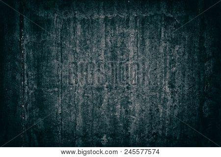 Old Weathered Concrete Wall. Gloomy Sinister Dark Grunge Background