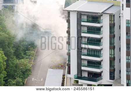 Harmful Insect Control In High-rise Apartment Building Via Smoke-gas Mixture To Prevent Spread Of Di