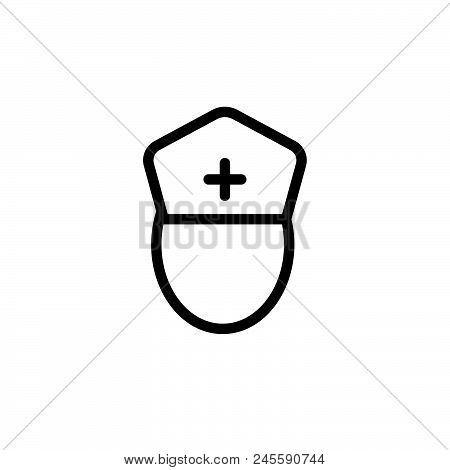 Nurse Vector Icon On White Background. Nurse Modern Icon For Graphic And Web Design. Nurse Icon Sign