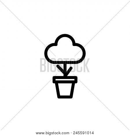 Plant Vector Icon On White Background. Plant Modern Icon For Graphic And Web Design. Plant Icon Sign