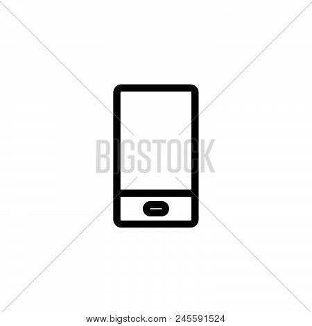 Smartphone Vector Icon On White Background. Smartphone Modern Icon For Graphic And Web Design. Smart