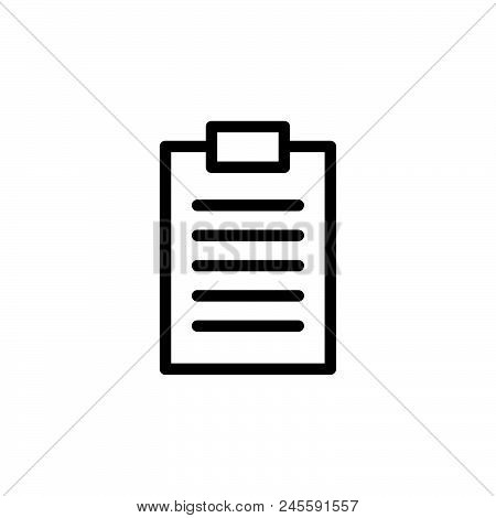 List Vector Icon On White Background. List Modern Icon For Graphic And Web Design. List Icon Sign Fo