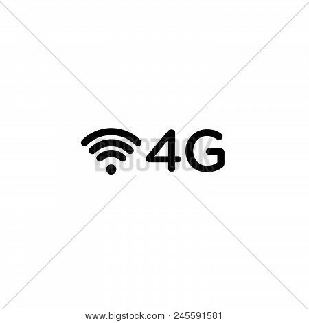 4g Network Vector Icon On White Background. 4g Network Modern Icon For Graphic And Web Design. 4g Ne