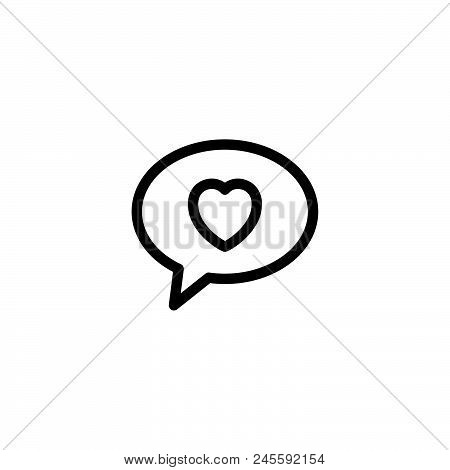 Love Message Vector Icon On White Background. Love Message Modern Icon For Graphic And Web Design. L