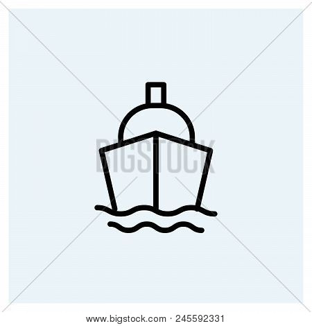 Ship Icon Vector Icon On White Background. Ship Icon Modern Icon For Graphic And Web Design. Ship Ic