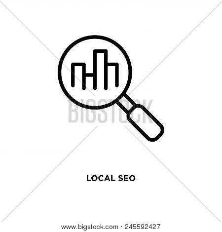 Local Seo Vector Icon On White Background. Local Seo Modern Icon For Graphic And Web Design. Local S
