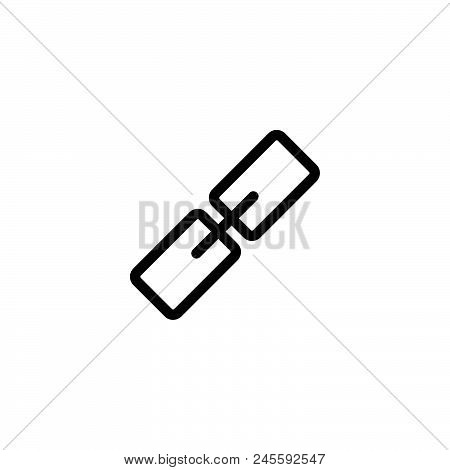Link Vector Icon On White Background. Link Modern Icon For Graphic And Web Design. Link Icon Sign Fo