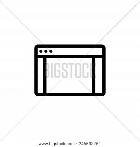 Website Vector Icon On White Background. Website Modern Icon For Graphic And Web Design. Website Ico