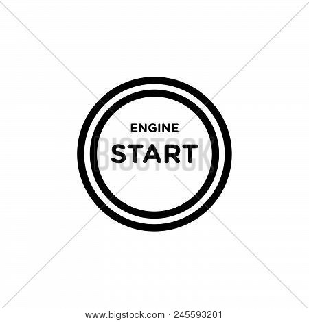 Engine Start Vector Icon On White Background. Engine Start Modern Icon For Graphic And Web Design. E
