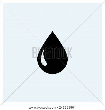 Drop Icon Vector Icon On White Background. Drop Icon Modern Icon For Graphic And Web Design. Drop Ic