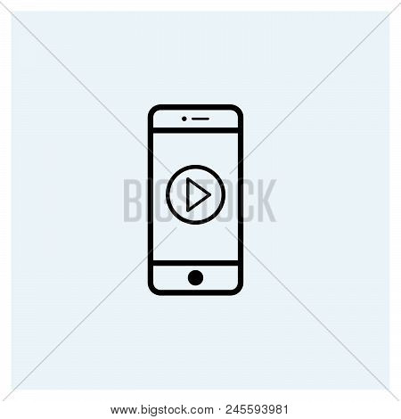 Mobile Video Icon Vector Icon On White Background. Mobile Video Icon Modern Icon For Graphic And Web