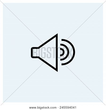 Sound Icon Vector Icon On White Background. Sound Icon Modern Icon For Graphic And Web Design. Sound