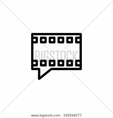 Video Talk Vector Icon On White Background. Video Talk Modern Icon For Graphic And Web Design. Video