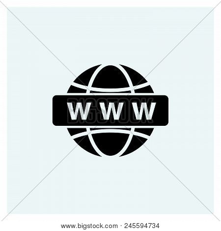 Www Icon Vector Icon On White Background. Www Icon Modern Icon For Graphic And Web Design. Www Icon