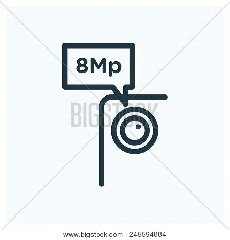 8 Megapixel Icon Vector Icon On White Background. 8 Megapixel Icon Modern Icon For Graphic And Web D