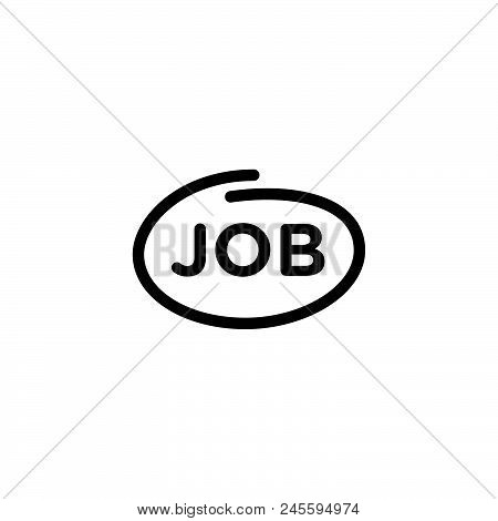 Job Vector Icon On White Background. Job Modern Icon For Graphic And Web Design. Job Icon Sign For L